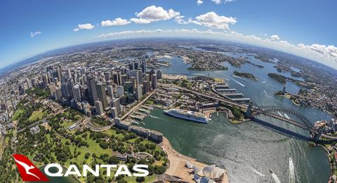Aerial image of Sydney Harbour including the Sydney Opera House and the Sydney Harbour Bridge