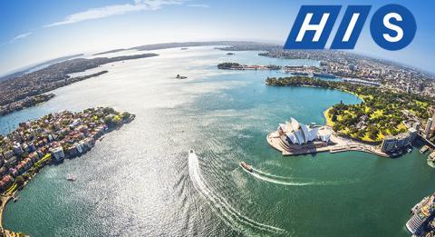 空中シドニー・ハーバーオペラハウス、 ロイヤル植物園