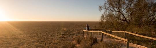 国立公園のマンゴ展望台、アウトバックNSW